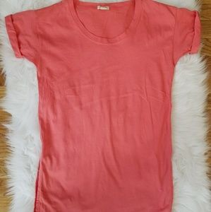 J.Crew Factory Coral Short Sleeved Tunic